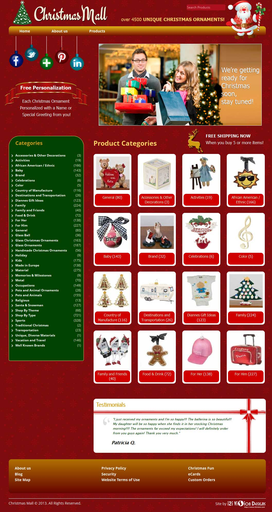 Christmas Mall website