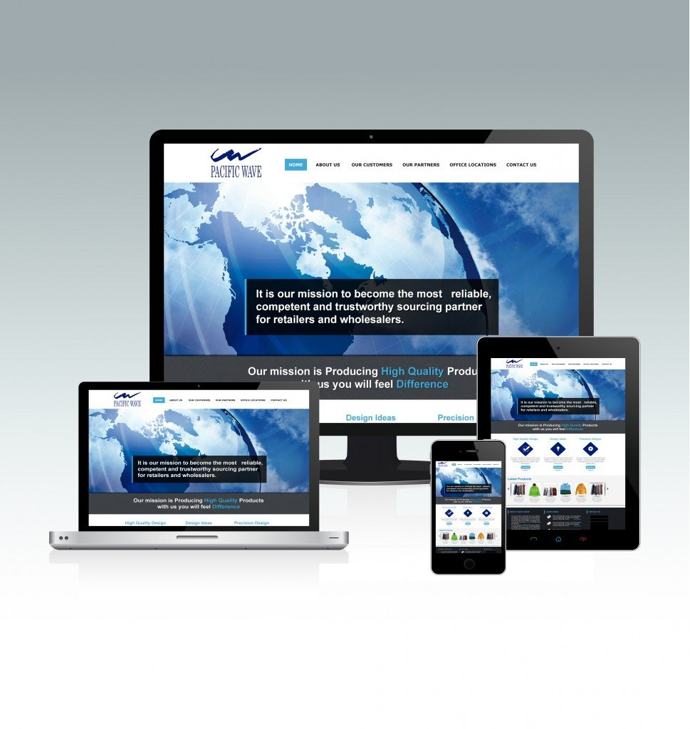 Pacific Wave Responsive website design