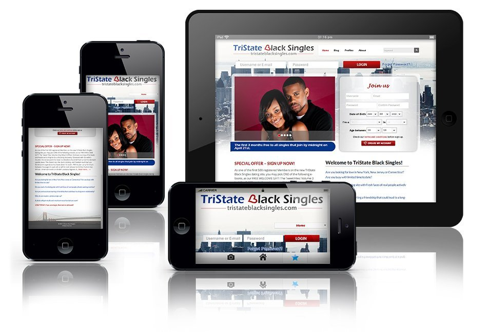 TriState Black Singles Dating website - Mobile Responsive